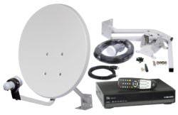 Комплект спутникового телевидения – свести проблемы вещания к нулю