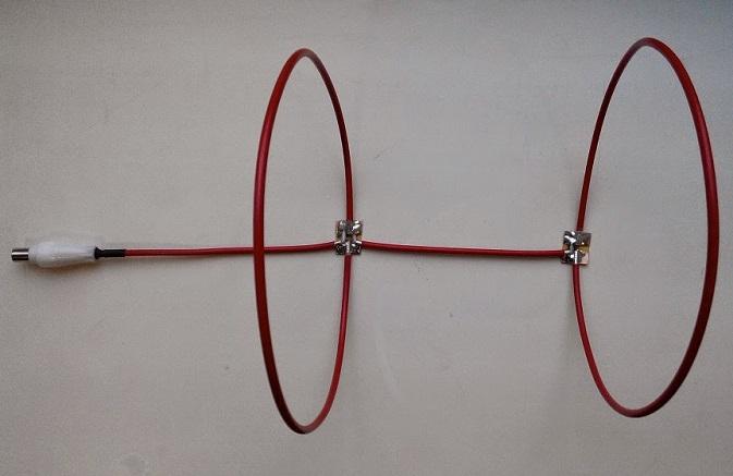 Антенна из кабеля в виде колец
