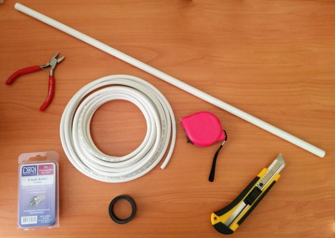 Подключение кабеля ТВ антенны