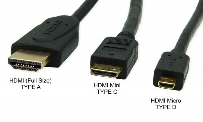 Варианты разъема HDMI