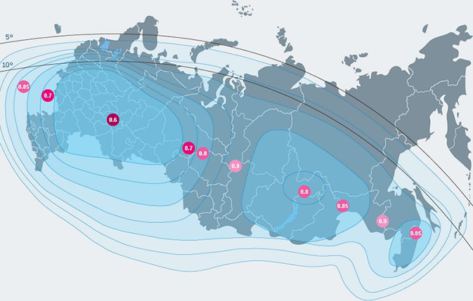 Телекарта - карта покрытия