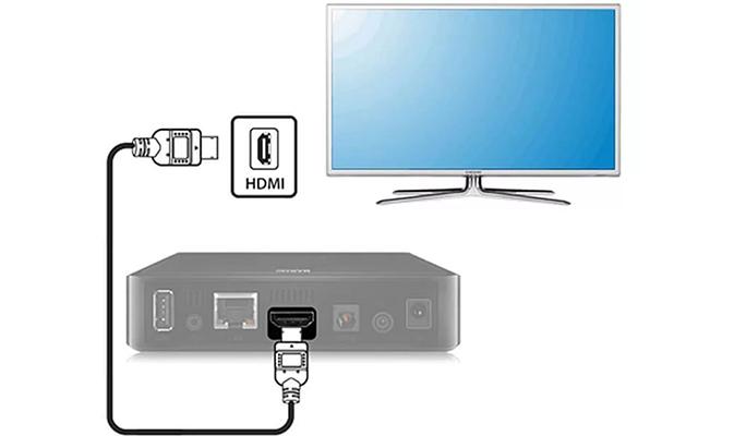 Подключение цифровой приставки с помощью HDMI